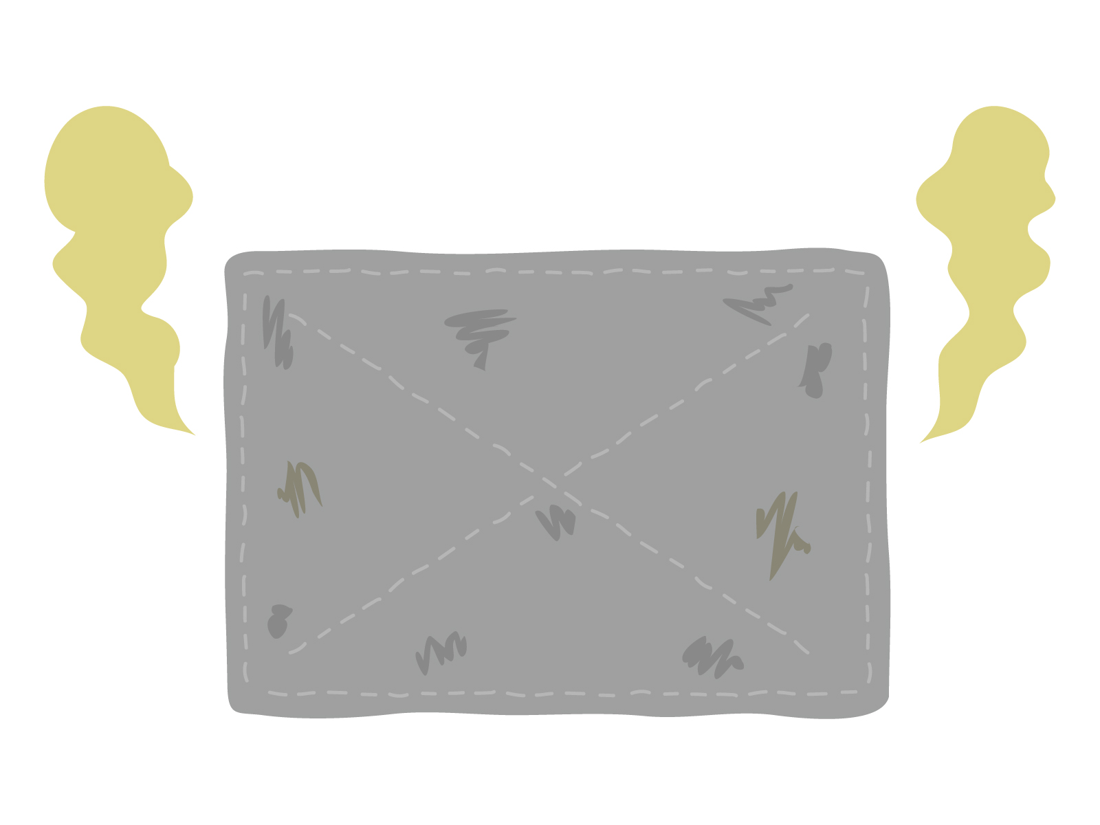 雑巾から悪臭してるイラスト 奈良整体